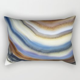 Colorful layered agate 2075 Rectangular Pillow