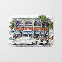 South Beach Sidewalks Bath Mat