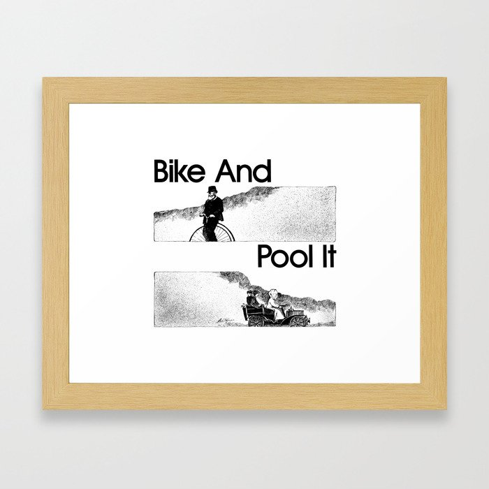 Bike And Pool It Framed Art Print
