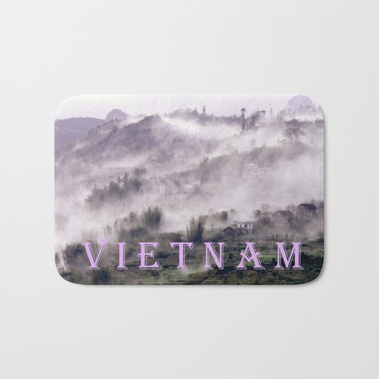 FOGGY FOREST in the VIETNAMESE MOUNTAIN Bath Mat