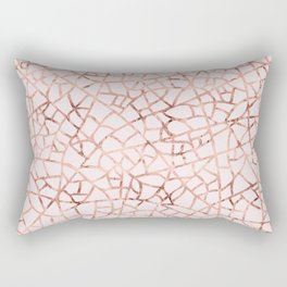 Crackle Rose Gold Foil Rectangular Pillow