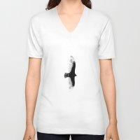 hawk V-neck T-shirts featuring HAWK! by Artēs Studio