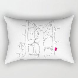 Telegraph pole forest. Rectangular Pillow