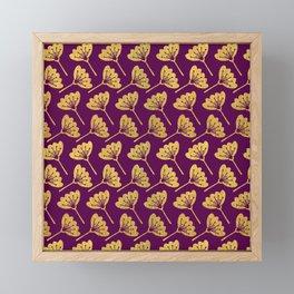Modern Golden Florals Framed Mini Art Print