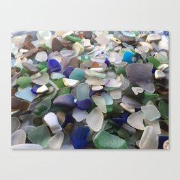 Sea Glass Assortment 2 Canvas Print