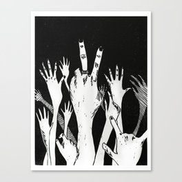 Let Me See Your Hands Canvas Print