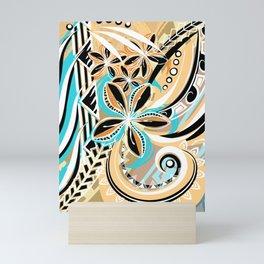 Hawaiian - Samoan - Polynesian Tiare Tribal Designs Mini Art Print