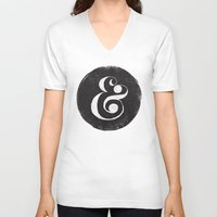 ampersand V-neck T-shirts featuring AMPERSAND by Matthew Taylor Wilson
