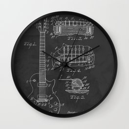 Guitar Patent Gibson Vintage Les Paul Wall Clock