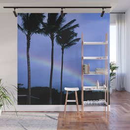 Island-Style Rainbow Across Kauai, Hawaii Wall Mural