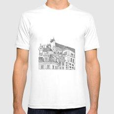 Old Town (Stare Miasto) - Warsaw, Poland Mens Fitted Tee MEDIUM White