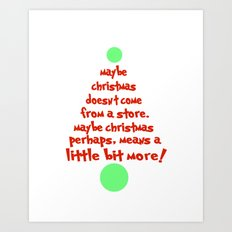 dr. seuss christmas Art Print