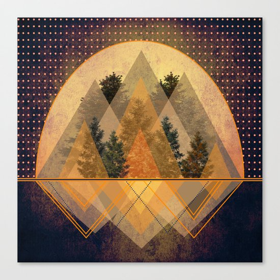 try again tree-angles mountains Canvas Print