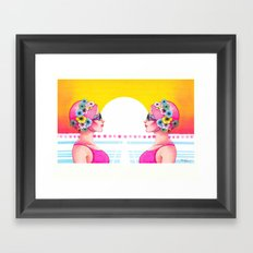Synchronized Framed Art Print