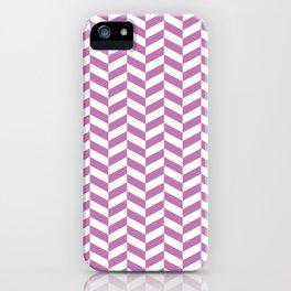 Orchid Purple Herringbone Pattern iPhone Case
