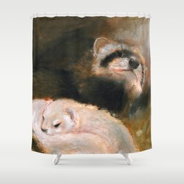 Ferret Mommy Shower Curtain