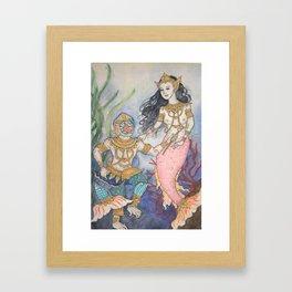 Suvannamaccha and Machanu Framed Art Print