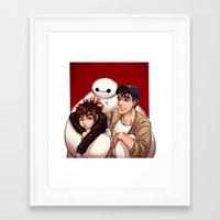 big hero 6 Framed Art Prints featuring Big Hero 6  by Arashi.C