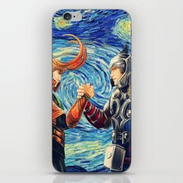 Brothers in Starry Night iPhone Skin