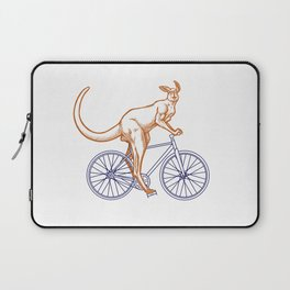 Kangaroo on a bike Laptop Sleeve