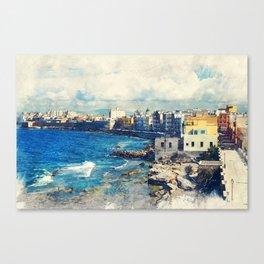 Trapani art 19 Sicily Canvas Print