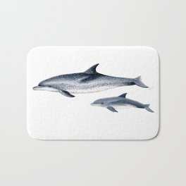 Atlantic spotted dolphin Bath Mat