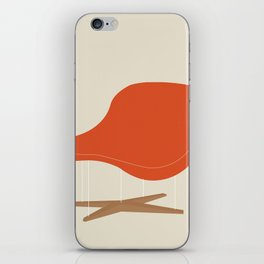 Orange La Chaise Chair by Charles & Ray Eames iPhone Skin