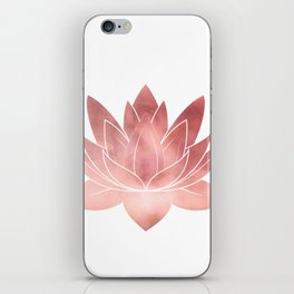 Pink Lotus Flower | Watercolor Texture iPhone Skin