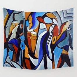 Jazzz for Ed Wall Tapestry