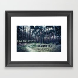Love and Respect the Wanderers Framed Art Print