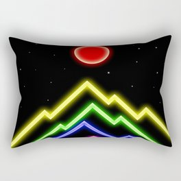 Old School Peaks Rectangular Pillow