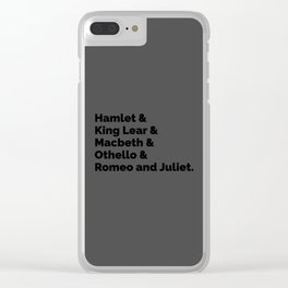The Shakespeare Plays II Clear iPhone Case