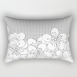Cherry Blossom Grid - In Memory of Mackenzie Rectangular Pillow