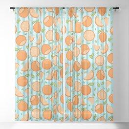 Orange Oranges Sheer Curtain