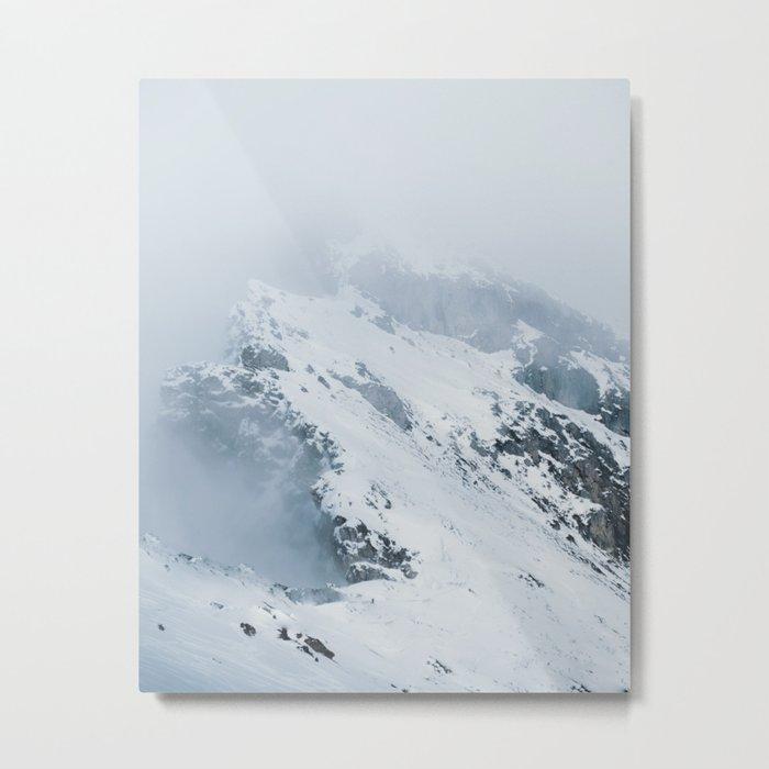 Old Mountain - Minimalist Landscape Photography Metal Print