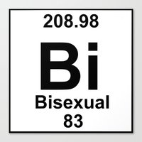 periodic table Canvas Prints featuring Periodic Table: Bi(sexual) by BrightestWitch