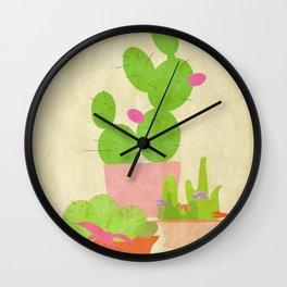 Cacti Mix Wall Clock