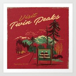 WELCOME TO TWIN PEAKS Art Print