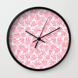 Palm Beach - pink and coral Wall Clock