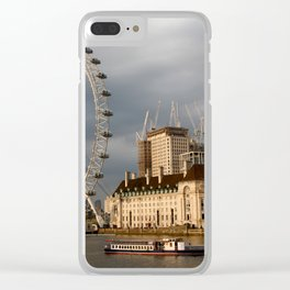 The London Eye On The South Bank Clear iPhone Case