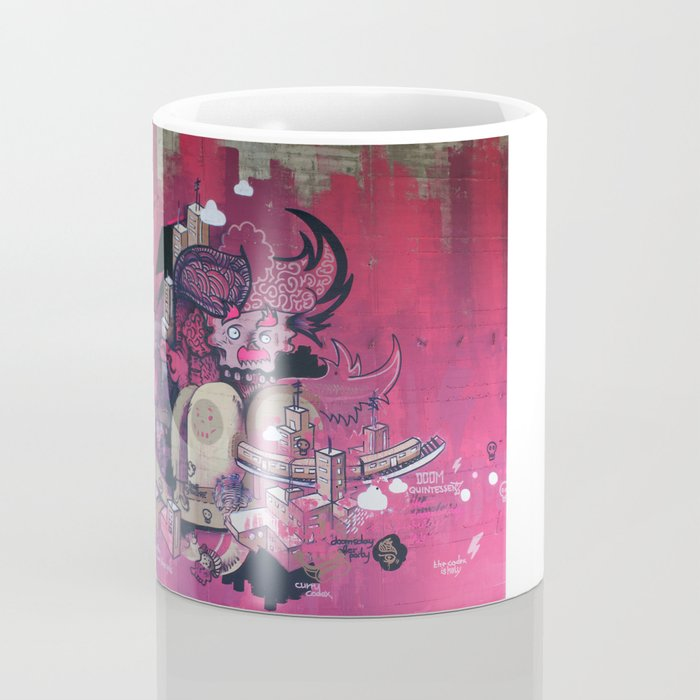 Dont Worry - Party Hard (Pink) Close Up Coffee Mug