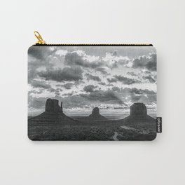 Southwest Wanderlust - Monument Valley Sunrise Black and White Carry-All Pouch