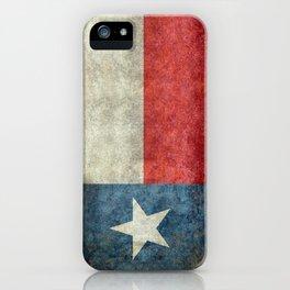 Texas State Flag, Retro Style iPhone Case