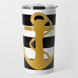 Gold Anchor Travel Mug