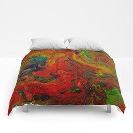 Dark Psychedelic marble Comforters
