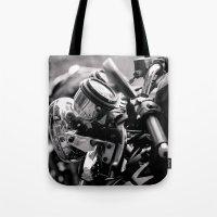 moto Tote Bags featuring moto by Farkas B. Szabina