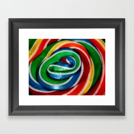 Swirl Rainbow Lollipop Framed Art Print
