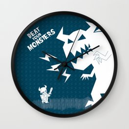 Beat Your Monters Wall Clock