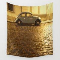 beetle Wall Tapestries featuring VW Beetle by Maria Heyens
