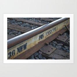Tracks on Tracks Art Print